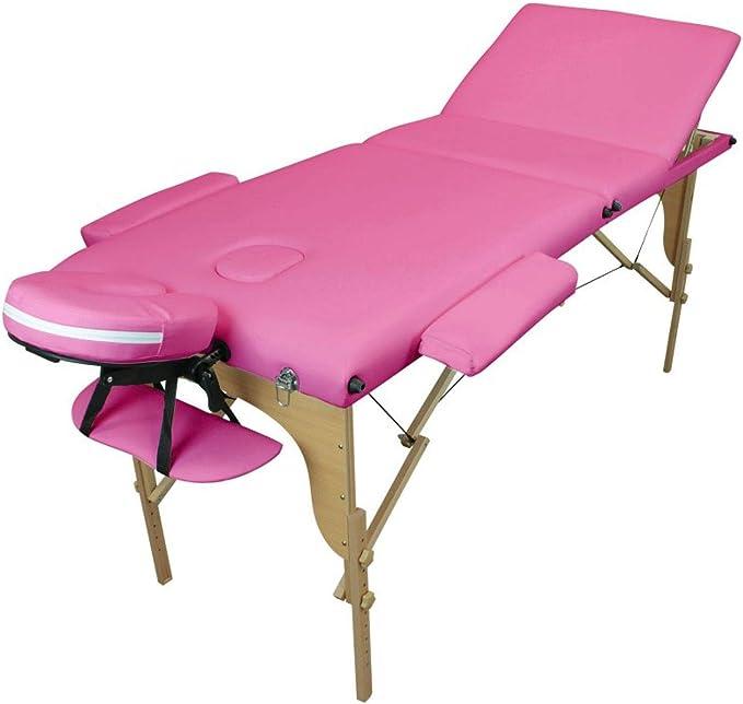 Vivezen Table de massage pliante 3 zones en bois avec panneau Reiki Vert Norme CE Accessoires et housse de transport 10 coloris