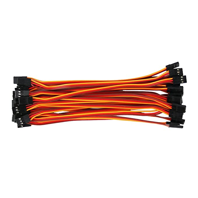 OliYin 20pcs 5.90inch 22awg 60 Cores Male to Male Lead Plug Servo Extension Wire Cable Line for RC Model Aircraft Stranded Futaba JR
