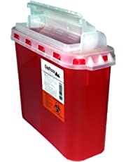 BD 5.4 Qt Sharps Disposal Container | Oakridge Products | Touchfree Rotating Lid