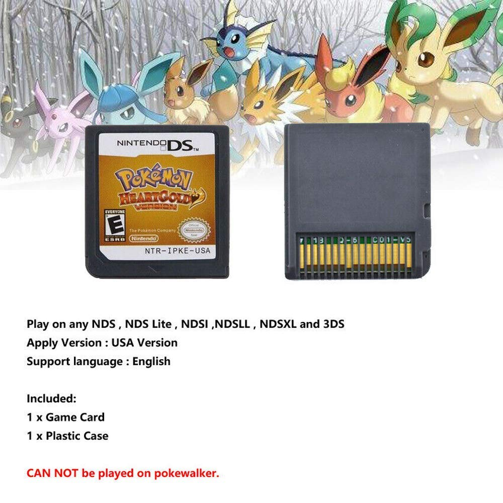 Pokemon Heart Gold Version Game Card for NDS 3DS DSI DS by Thousand layer (Image #2)