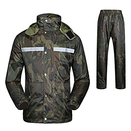 Amazon.com: Camouflage Rain Suit Waterproof Rainwear Men ...