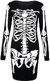 Fast Fashion Damen Kleiden Skeletts Druck