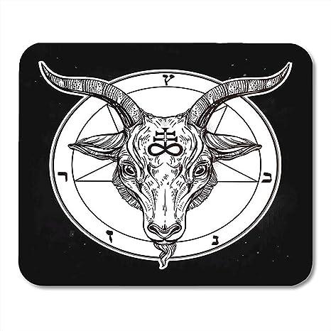 Alfombrillas de ratón Pentagrama con Demonio Baphomet Cabeza de ...