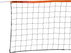 Park & Sun Sports Regulation Size Indoor/Outdoor Recreational Volleyball Net with Steel Cable Top, Orange