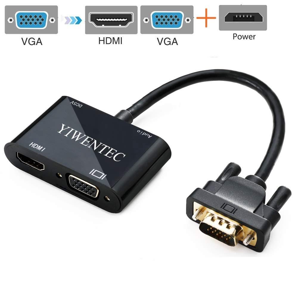 YIWENTEC VGA Macho a VGA HDMI Adaptador Adaptador 2IN1 para ...