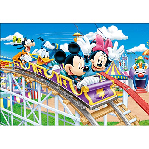 5D DIY Full Drill Diamond Painting Kit, Rhinestone Painting Kits for Adults and Children Embroidery Arts Craft Home Decor Cartoon Anime Series12 x 16 inch (Roller Coaster, 30x40cm)