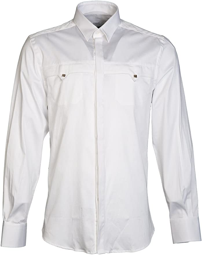 Versace Camisa Casual - Para Hombre Blanco Blanco ...