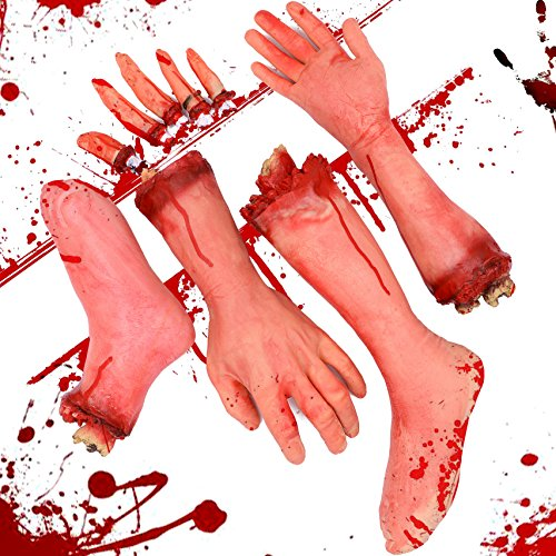 7TECH Halloween Body Parts 9PCS Fake Body Jewelry Artificial Broken Body Halloween Party Props