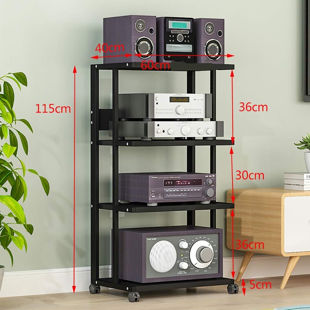 CDラック オーディオラックDVD収納棚、多機能スピーカーアンプ専用キャビネット4層取り外し可能CD棚、機器サポートフレーム (Color : B) B07T7GTJ84 B