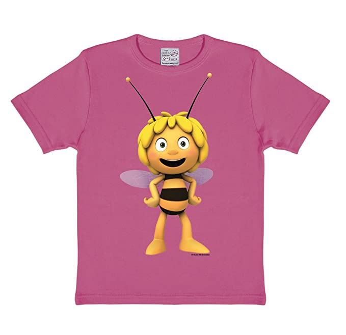 Logoshirt Camiseta para niña Maya 3D - La Abeja Maya - Die Biene Maja -  Maja 3D - Camiseta con Cuello Redondo Rosa - Diseño Original con Licencia   ... 2731f1ea6d456