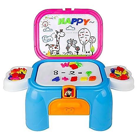 1f84ecbc31 Deluxe Imparare Desk Playset Lavagna Magnetica con Lettere e Numeri per  Bambini di 3 Anni