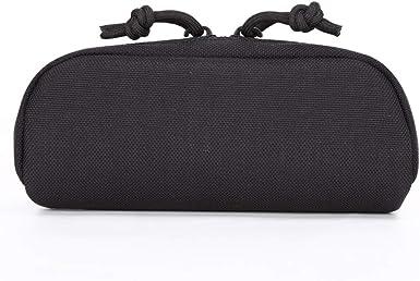 armine88 Estuche para anteojos Protector completo a prueba de golpes Nylon portátil Almacenamiento en la cintura Caja dura Bolsa Al aire libre Llevar Impermeable Caza Gafas Accesorio Bolsa(Negro): Amazon.es: Ropa y accesorios