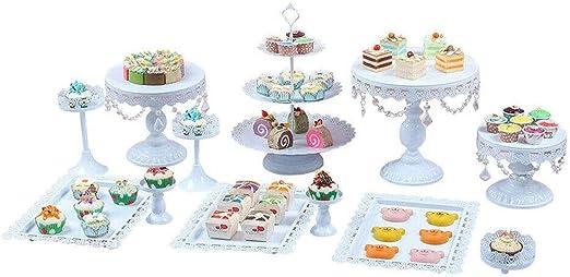 Amazon.com: Soporte para tartas, 14 piezas, soporte de metal ...