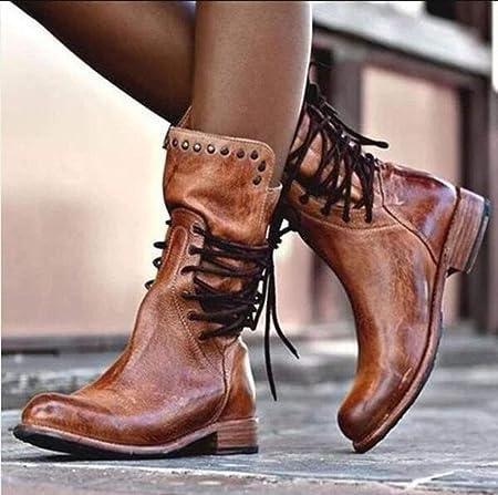 stivali donna marrone punta tonda