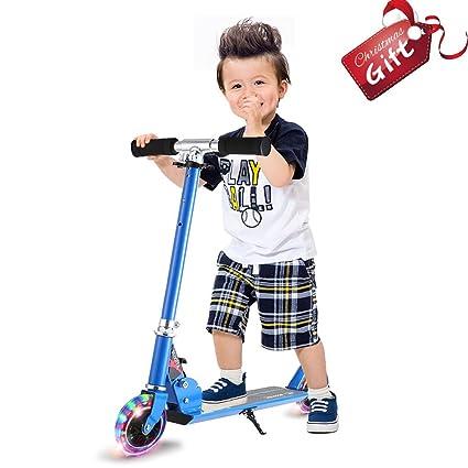 Amazon.com: anjojo Kids Kick Scooter Mini Patinete con 2 ...