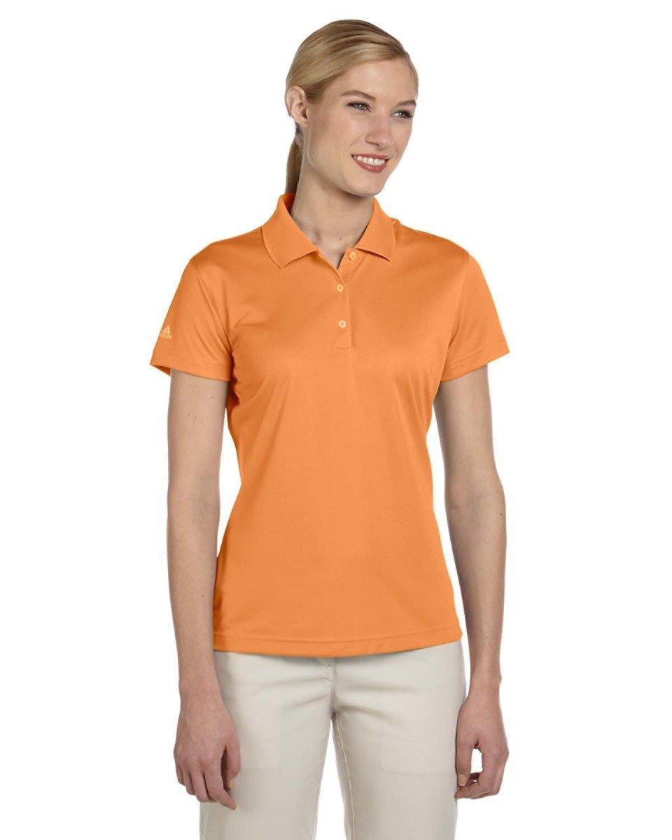 Adidas Women'S Golf Climalite Basic Performance Pique Polo Light Orange S