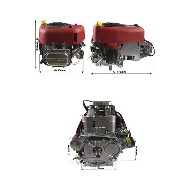 Jardiaffaires Motor Briggs Stratton 500 CC 17, 5 CV 25, 4 x 80 mm ...