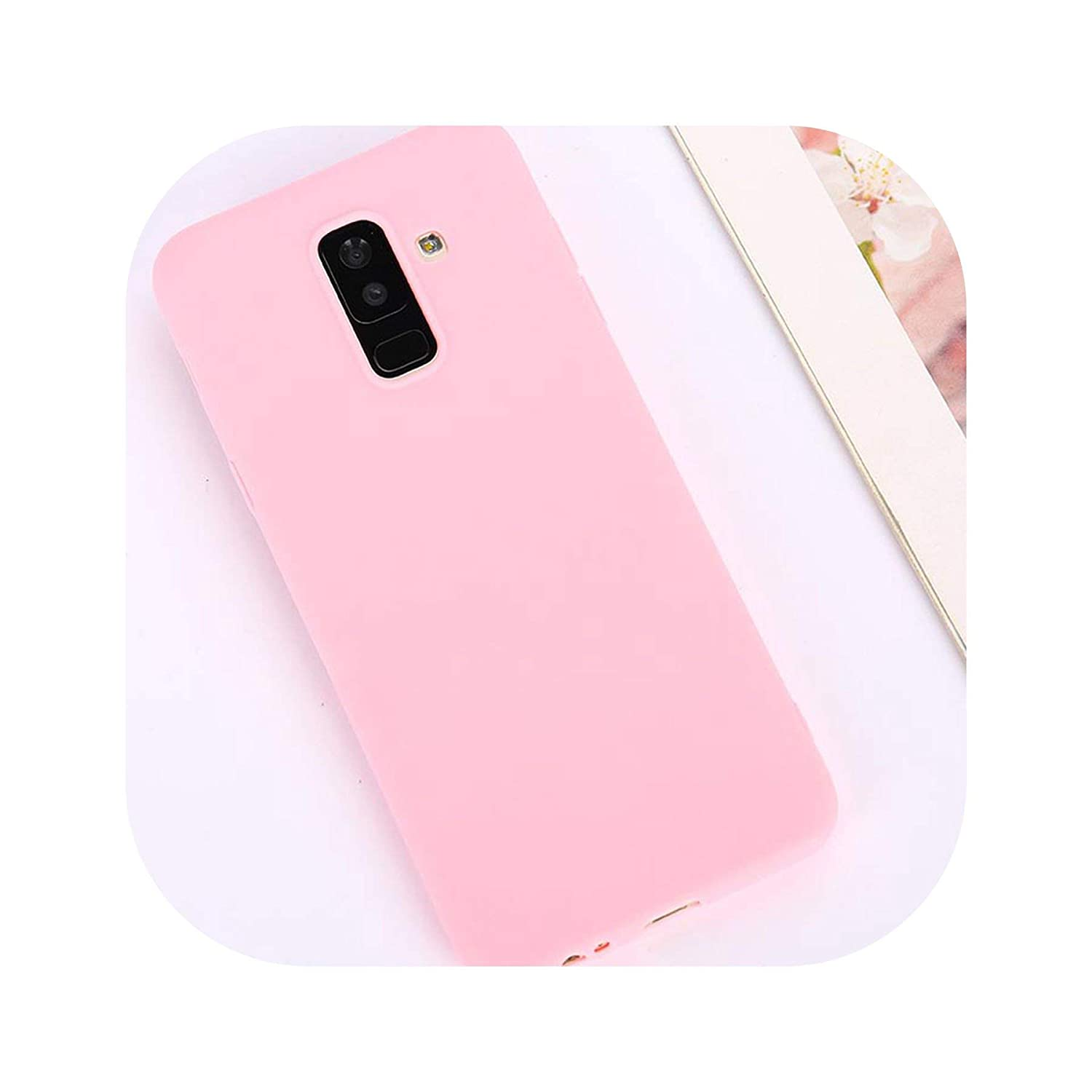 Candy Color Case for Samsung Galaxy A50 A70 A5 2017 J4 J6 Plus J8 A8 A6 A7 2018 S8 S9 S10 Plus S10E Note9 M20 Soft Cover,Rose Pink,S8 Plus