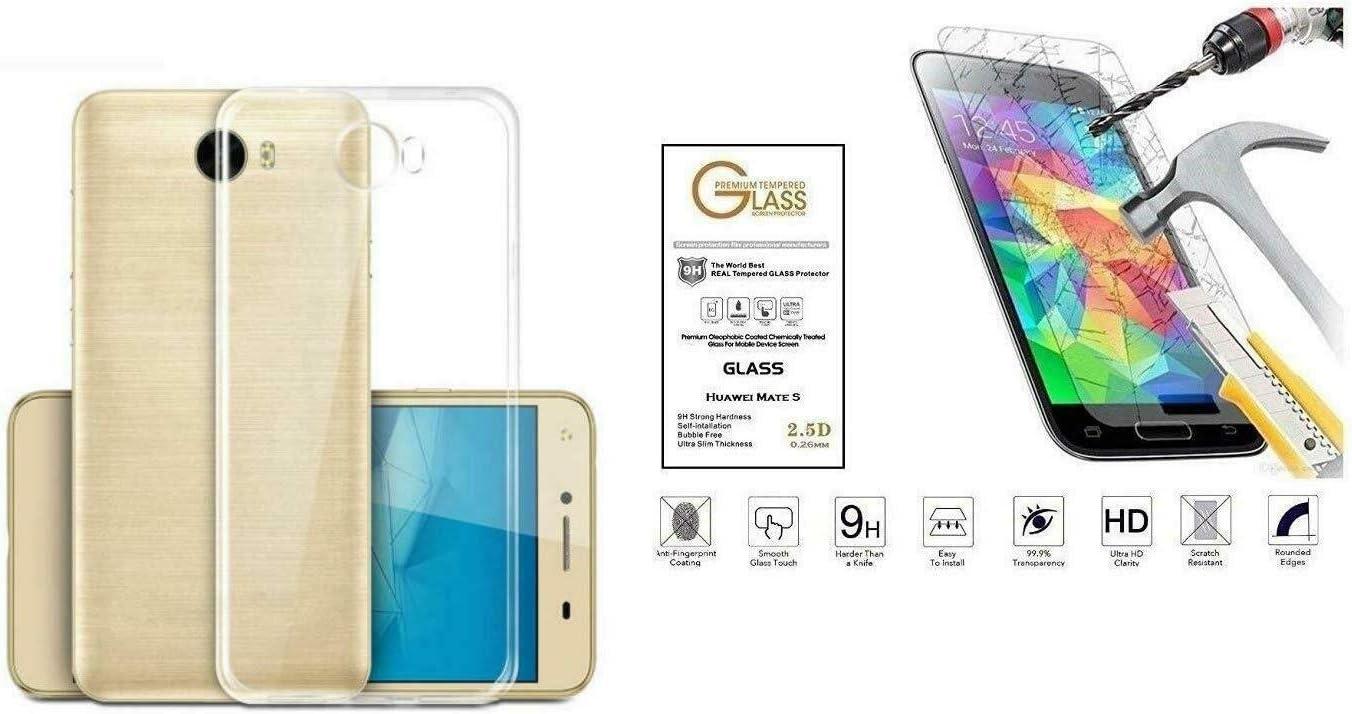 pour Huawei Y52 Y5 II 2 Y5ii (Cun-L21) CUN-L01 (CUN-U29) Coque de Protection Ultrafine en Gel Silicone Caoutchouc TPU Souple Cadre Transparent Film ...