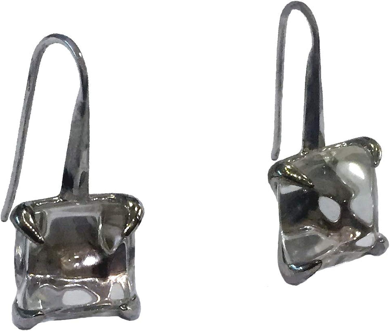 Pendientes de Plata de Ley Pithlwa EA32930000 con Cristal de Roca
