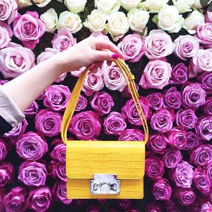 London Asas Mujer Piel De Subella Para Amarillo Bolso UqwxO