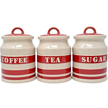 Cream Kitchen Canisters Finepotter