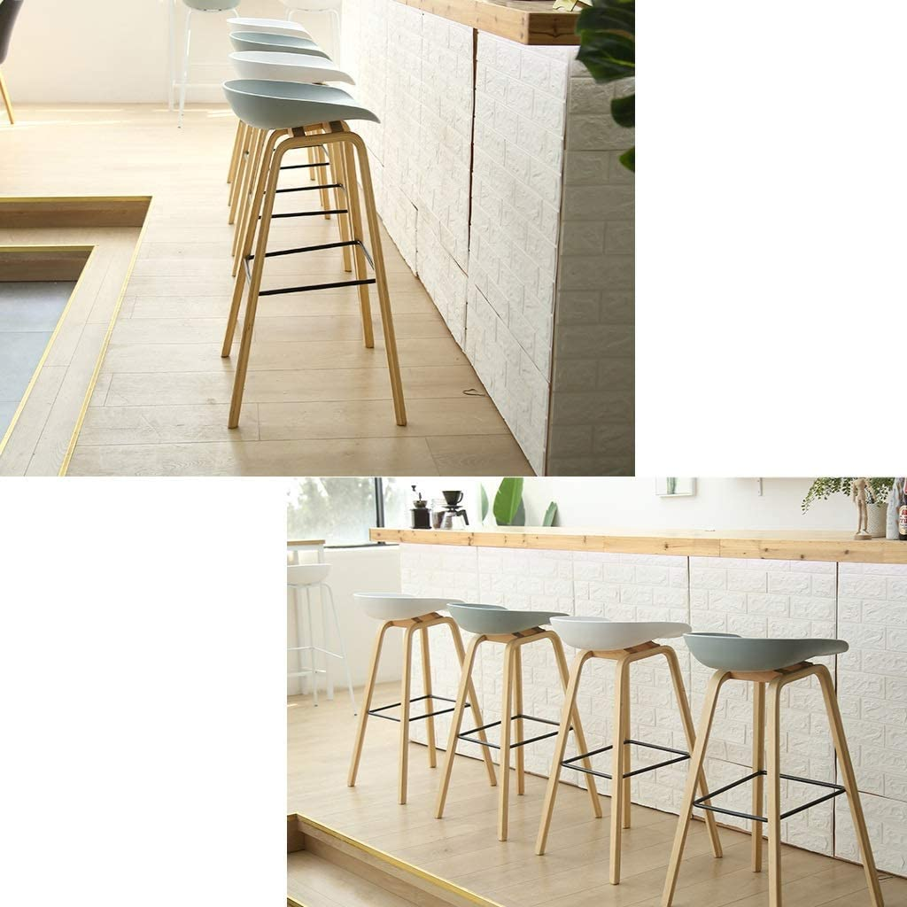 LMK Barstools High Stool/Bar Stool/Dining Chair/Round Seat Wooden Breakfast Kitchen Countertop Garden Greenhouse Coffee Bar for Kitchen | Pub | Café,#4 #3