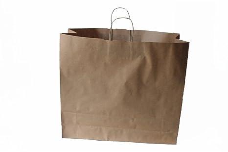 722212754 Bolsas de papel con cordón marrón Extra Grande 54 + 14 x 50 cm – Diferentes