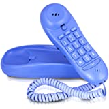 Slimline Blue Colored Phone For Wall Or Desk With Memory