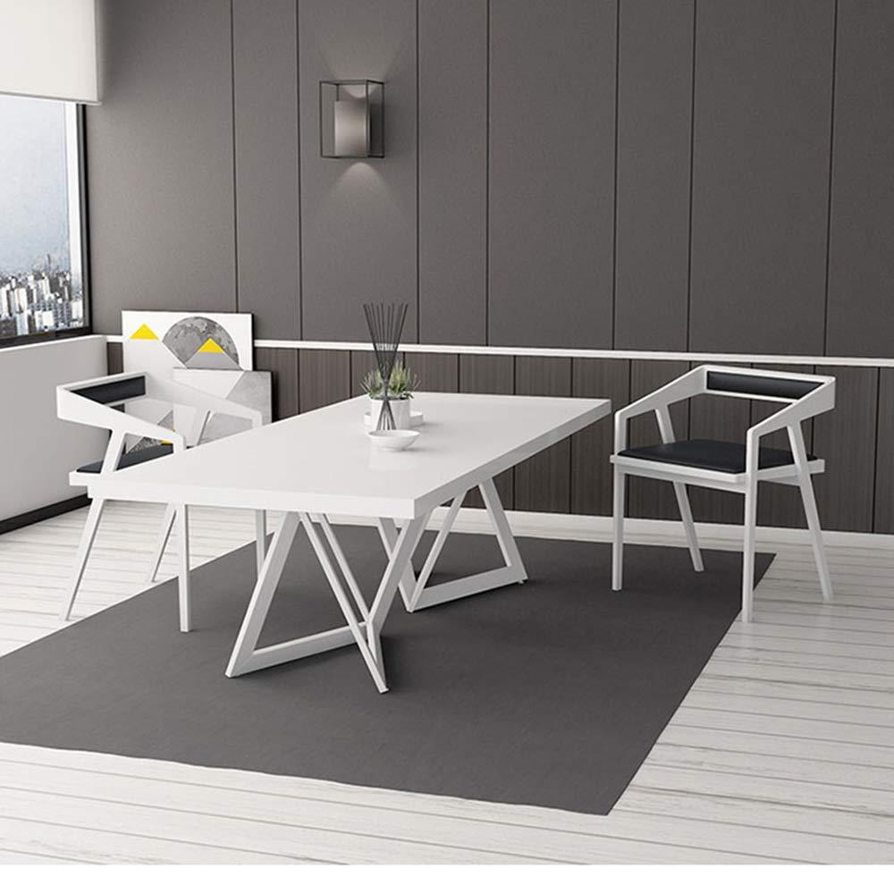 Colore: Bianco uyoyous 120 x 80 cm per casa e Ufficio Scrivania Rettangolare in Legno