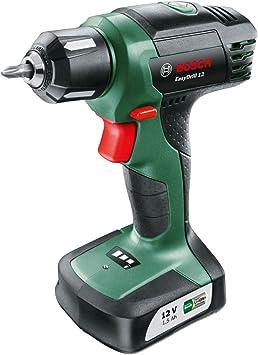 Oferta amazon: Bosch EasyDrill 12 - Taladro atornillador a batería (12 V, con batería integrada, Cargador, Punta de destornillador)