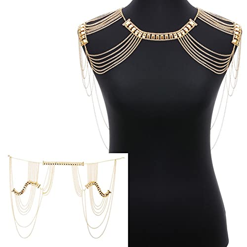 beads clear new jewelry thin harness gold trendy body fashion dress multi accessories metal pearl products chains fringe necklace stones imitation chain full women long extra sexy