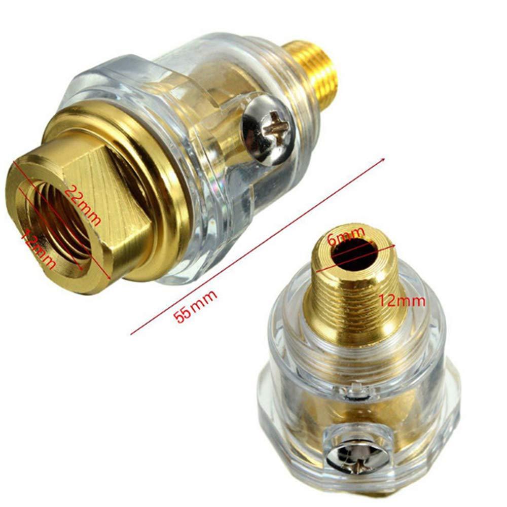 Festnight Mini lubrificatore per oliatore in Linea 1//4NPT per Tubo compressore Aria utensile Pneumatico
