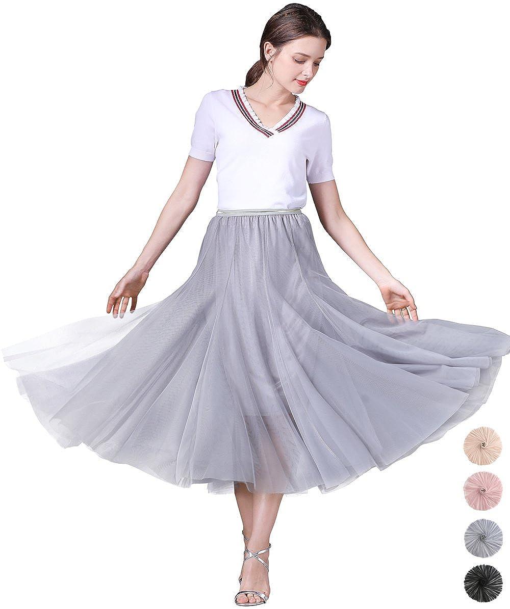 7da9e4e44e  TULLE SKIRT FOR WOMEN SKIRTS MIDI LENGTH TULLE SKIRT A-Line Knee Length  Skirt with Slim-Fit Design at the upper portion and super flared big swings  at ...