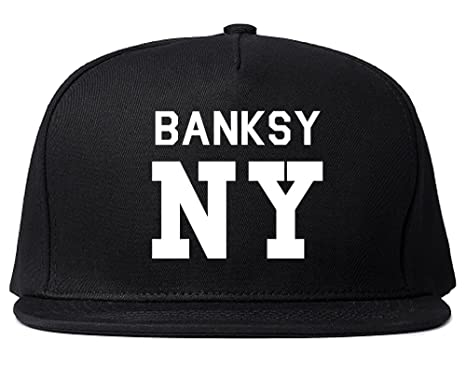 291d74dc3753b Kings Of NY Bansky New York Team Art Graffiti Wall Graf Snapback Hat Black