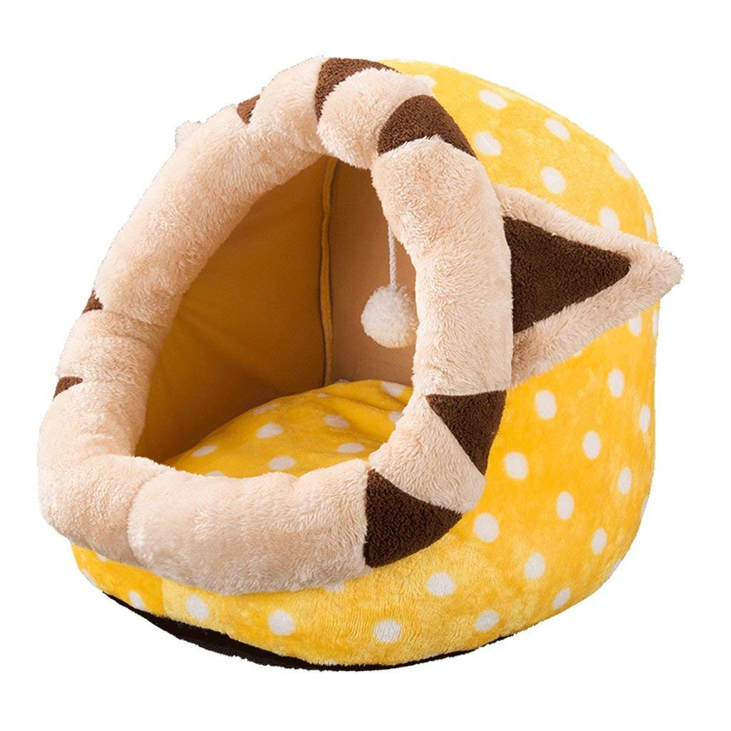 M Pet Bed Summer Cat Litter Cat House Four Seasons Universal Cat Nest Cat Closed Sleeping Bag Small Dog Kennel Pet Supplies Full Set Pet Bed (Size   M) (Size   M)