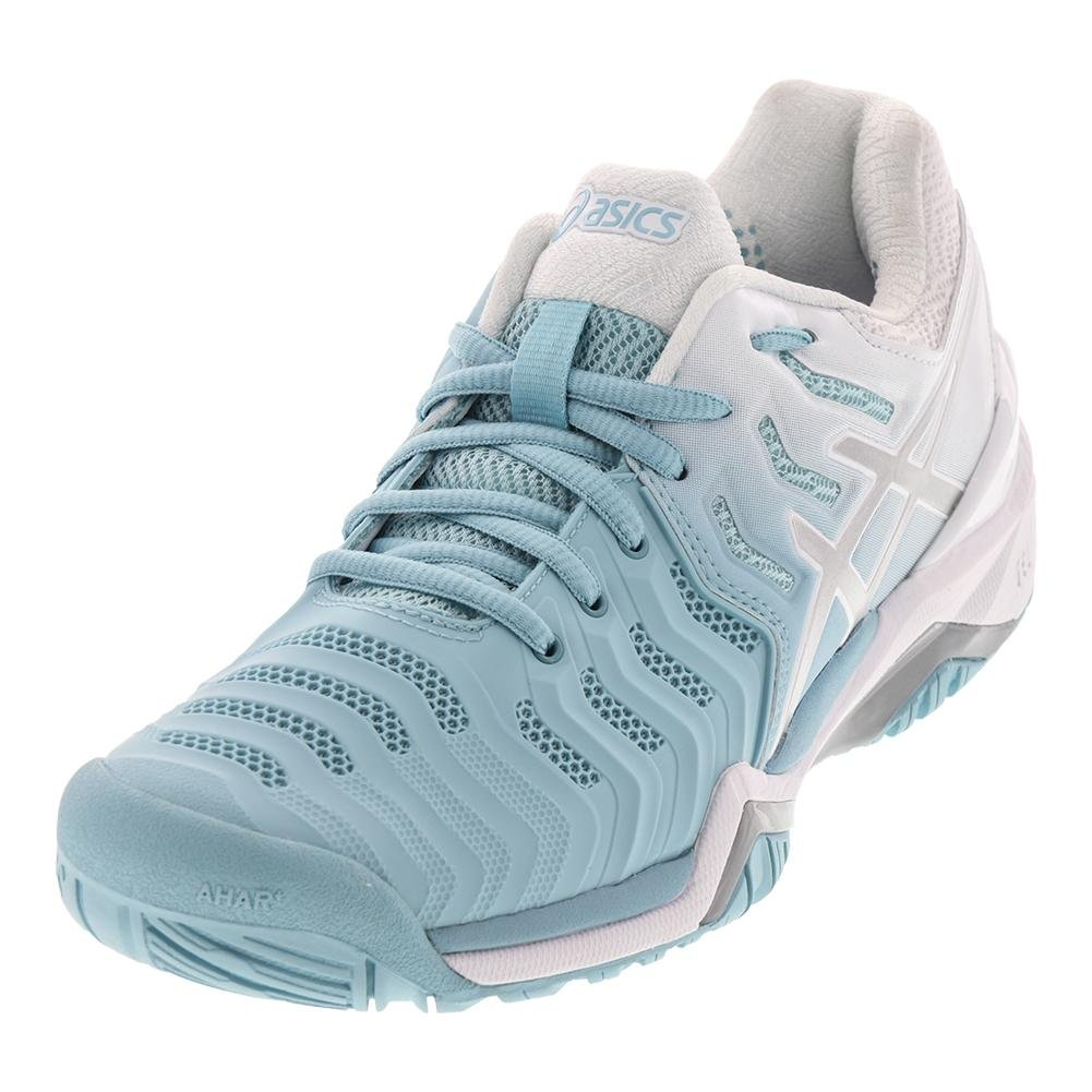 ASICS Women's Gel-Resolution 7 Tennis Shoe B071VN1738 11 B(M) US|Porcelain Blue/Silver/White