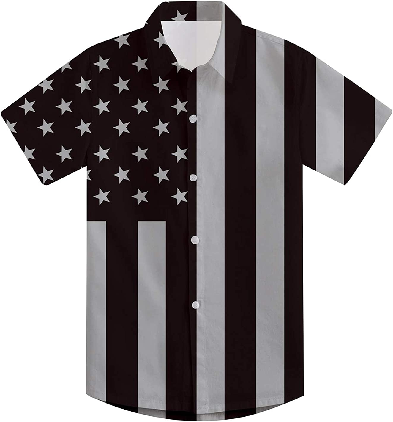 ALISISTER Big Boys Button Down Dress Shirt Short Sleeve Kids Playwear 7-14 Years