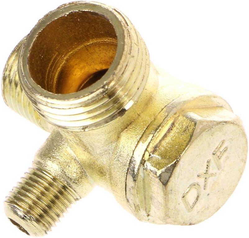smallJUN Filetage M/âle 3 Voies en M/étal Compresseur dair Clapet Anti-Retour Ton Dor/é Compresseur dair Clapet Anti-Retour Or