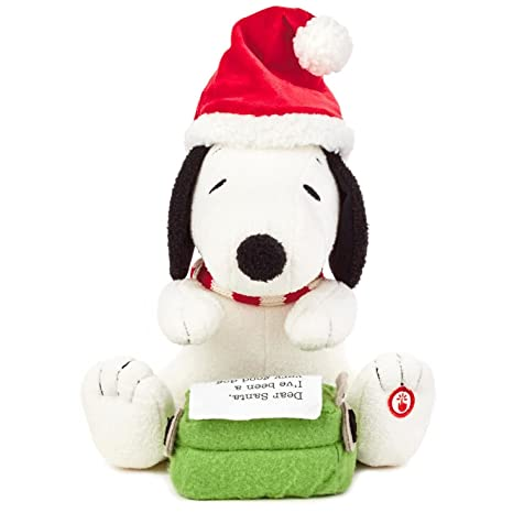 Amazon peanuts snoopys letter to santa stuffed animal with peanuts snoopys letter to santa stuffed animal with sound and motion interactive stuffed animals movies spiritdancerdesigns Choice Image
