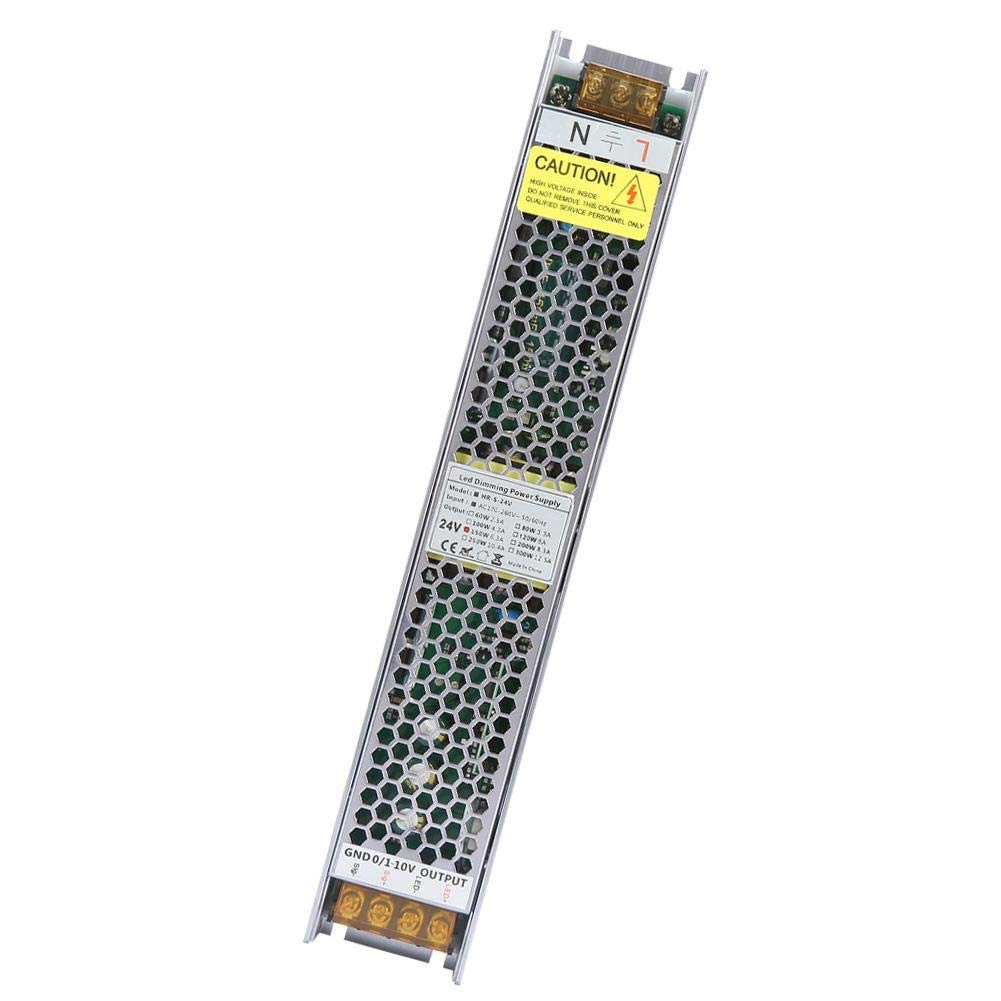 12V//24V PWM Regulable Transformador de Fuente de Alimentaci/ón Inteligente para Atenuaci/ón de Luz LED 24V 6.25A