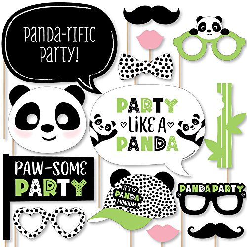Big Dot of Happiness Party Like a Panda Bear - Baby Shower or Birthday Party Photo Booth Props Kit - 20 Count -