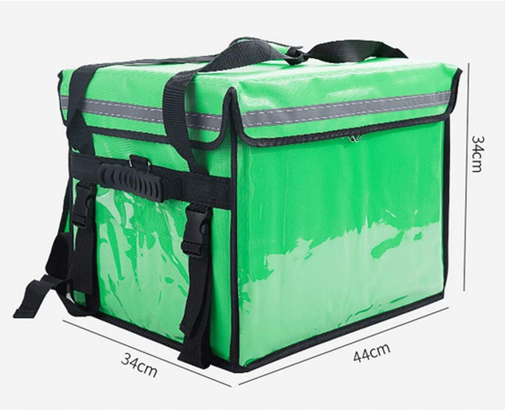 YANMUZI Eats Bag Bolsa De Entrega De Alimentos con Aislamiento Mochila Grande De Entrega De Alimentos con Doble Cubierta con Tablilla Impermeable,Green