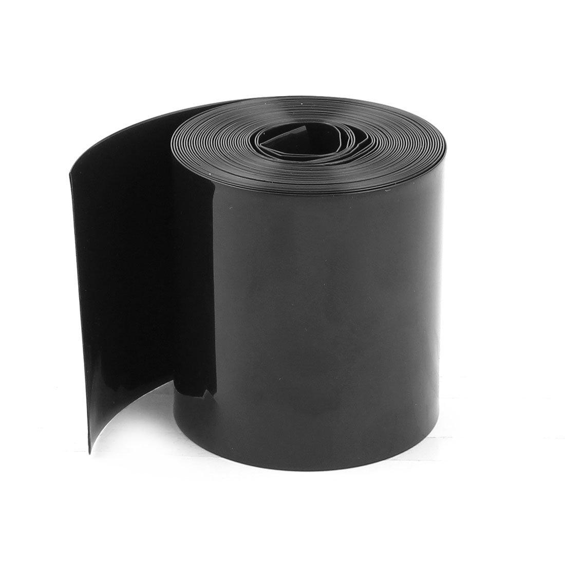 Sourcingmap 70mm/44mm PVC Tuyau Thermorétractable Housse 5m 5m pour 18650 Bloc-Piles