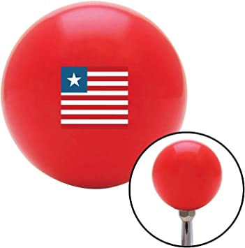 American Shifter 111812 Red Stripe Shift Knob with M16 x 1.5 Insert White Swallow