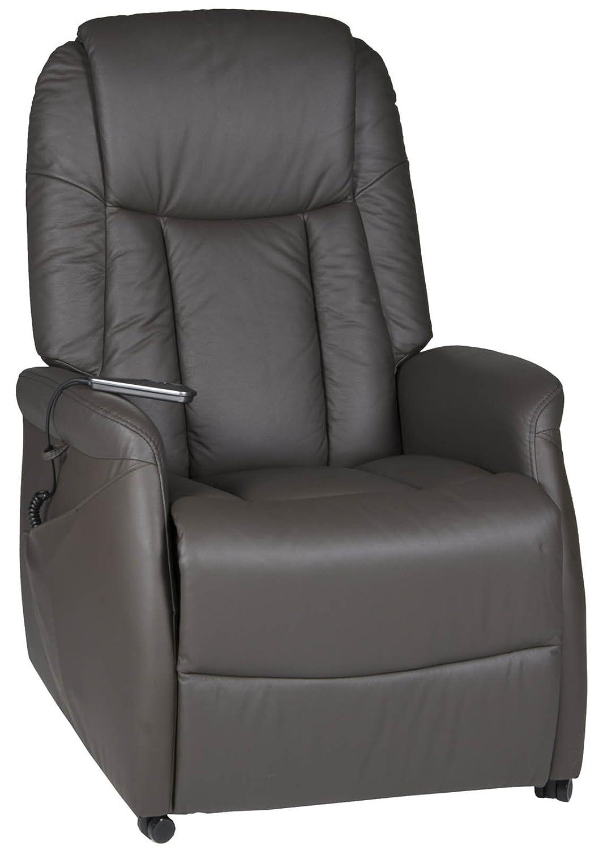 TV-Sessel Rivello mit Motor und Aufstehhilfe in Leder braun