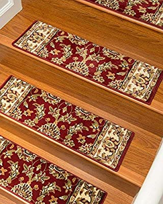 "NaturalAreaRugs Sydney Carpet Stair Treads, Set of 13, 9"" x 29"""