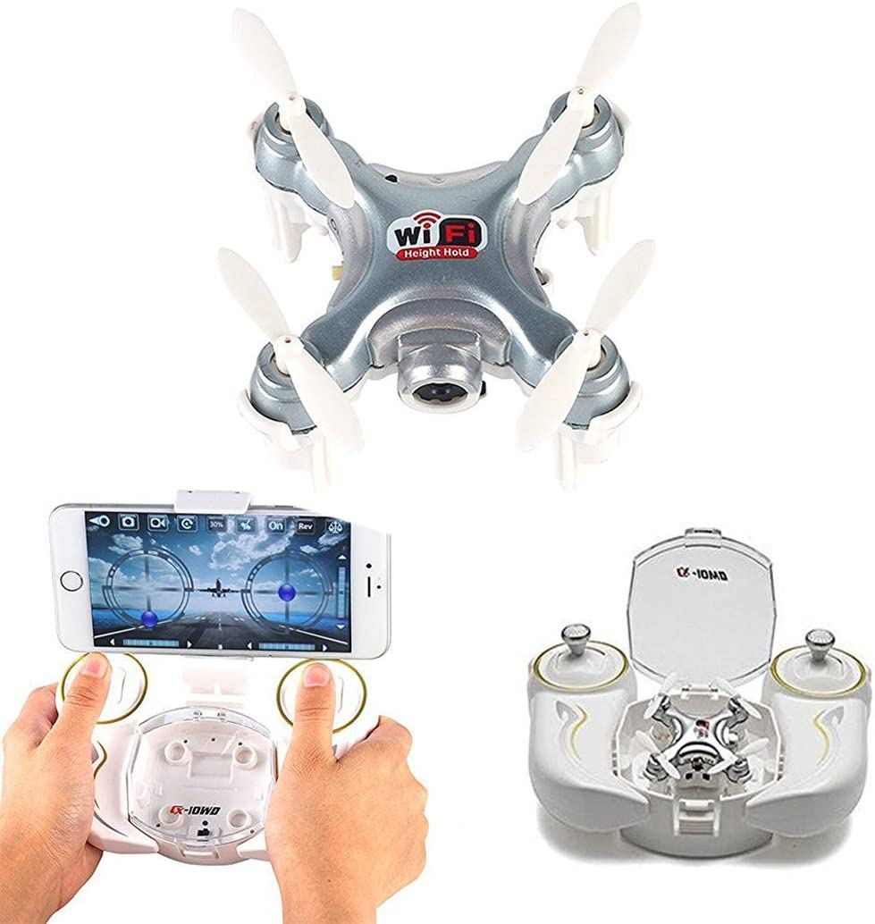 sea jump Cheerson CX-10WD-TX Wifi 0.3MP Camera 4 Channal multi-color LED lights Remote Control Quadcopter/RC Drone/helicopter