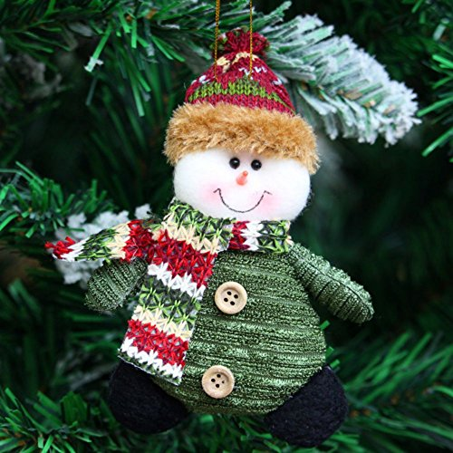 Smartcoco Santa Claus Snowman Reindeer Doll Hanging Ornament Christmas Gift Party Xmas Tree Decor -