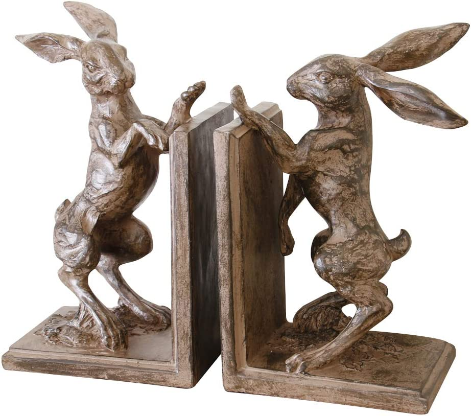 Dibor Traditional Style Gents Office Boxing Hare Bookends